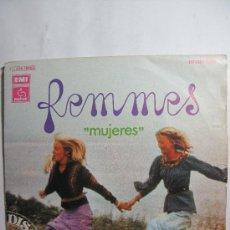 Discos de vinilo: FEMMES -NATHALIE Y CHRISTINE CON LES VIBRATIONS. Lote 25025811