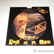 Discos de vinilo: AEROSMITH / LIVIN' ON THE EDGE - EP 3 TEMAS PICTURE DISC FOTODISCO EDICIÓN LIMITADA NUMERADA!!!. Lote 26433887