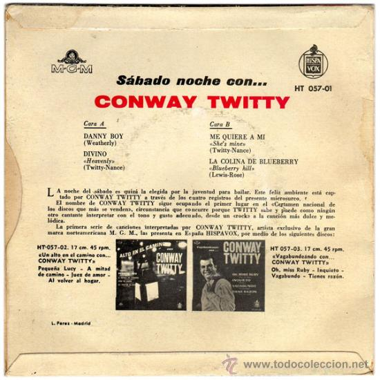 Conway twitty – danny boy – ep original spain 1 - Sold at