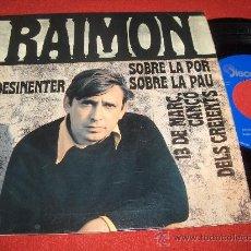 "Disques de vinyle: RAIMON SOBRE LA PAU 7"" EP 1968 DISCOPHON EXCELENTE ESTADO. Lote 24398708"
