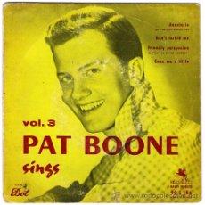 Discos de vinilo: PAT BOONE – SINGS VOL. 3 – EP FRANCE – VERSAILLES 90S156. Lote 21807061