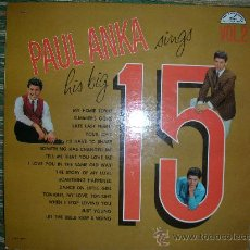 Discos de vinilo: PAUL ANKA - SINGS HIS BIG 15 VOL. 2 LP - ORIGINAL U.S.A. - ABC PARAMOUNT 1961 EN MONO. Lote 26243428