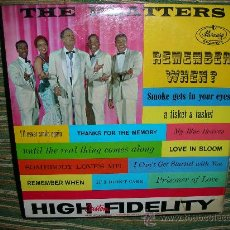 Discos de vinilo: THE PLATTERS - REMEMBER WHEN? - ORIGINAL U.S.A. - MERCURY 1959 - MONO. Lote 26243472