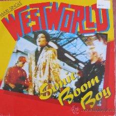 Discos de vinilo: MAXI - WESTWORLD - SONIC BOOM BOY/BUBBLE BO DIDDLEY/IMPOSSIBLE MISSION - RCA 1987. Lote 21914766
