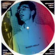 Discos de vinilo: BUDDY HOLLY - SINGLE PICTURE 2 TEMAS POR 1 CARA NUEVO FOTODISCO - MADE IN DINAMARCA - ULTRARARE!!. Lote 28400560
