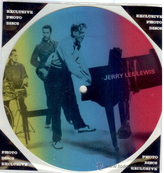 JERRY LEE LEWIS SINGLE PICTURE 2 TEMAS POR 1 CARA NUEVO FOTODISCO MADE IN DINAMARCA - ULTRARARE (Música - Discos - Singles Vinilo - Rock & Roll)