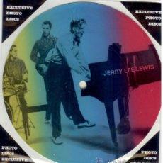 Discos de vinilo: JERRY LEE LEWIS SINGLE PICTURE 2 TEMAS POR 1 CARA NUEVO FOTODISCO MADE IN DINAMARCA - ULTRARARE. Lote 157010080