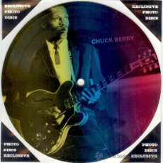 Discos de vinilo: CHUCK BERRY - SINGLE PICTURE 2 TEMAS POR 1 CARA NUEVO FOTODISCO MADE IN DINAMARCA - ULTRARARE!!!!. Lote 28400666