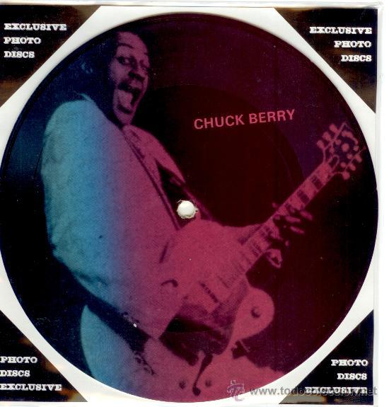 CHUCK BERRY - SINGLE PICTURE 2 TEMAS POR 1 CARA NUEVO FOTODISCO MADE IN DINAMARCA - ULTRARARE!!!! (Música - Discos - Singles Vinilo - Rock & Roll)
