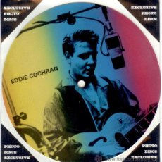 Discos de vinilo: EDDIE COCHRAN - SINGLE PICTURE 2 TEMAS POR 1 CARA NUEVO FOTODISCO MADE IN DINAMARCA - ULTRARARE!!. Lote 37917989