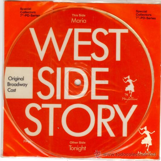 WEST SIDE STORY - SINGLE VINILO PICTURE DISC - LTD 1000 COPIAS - NUEVO - FOTODISCO MUY RARO!! (Música - Discos - Singles Vinilo - Bandas Sonoras y Actores)