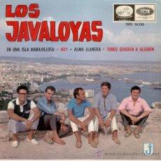 Discos de vinilo: LOS JAVALOYAS - EN UNA ISLA MARAVILLOSA + 3 -- EP 1965. Lote 27442650