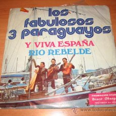 Discos de vinilo: LOS FABULOSOS 3 PARAGUAYOS Y VIVA ESPAÑA.-RIO REBELDE DISCO PROMOCIONAL DE STARLUX. Lote 21961012