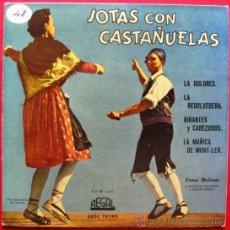 Discos de vinilo: EMMA MALERAS - JOTAS CON CASTAÑUELAS - ARAGON JOTA - EP REGAL 1958 BPY. Lote 26300568