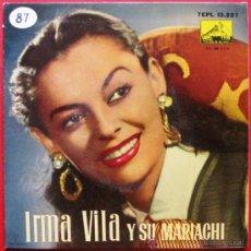 Discos de vinilo: IRMA VILA Y SU MARIACHI - CANASTAS Y MAS CANASTAS - EP LA VOZ DE SU AMO 1958 BPY. Lote 26300565
