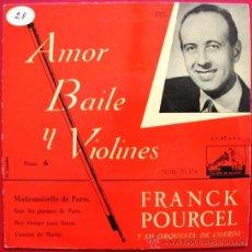 Discos de vinilo: FRANCK POURCEL - MADEMOISELLE DE PARIS - EP LA VOZ DE SU AMO 1958 BPY. Lote 26287738
