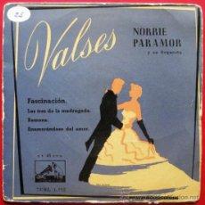 Discos de vinilo: NORRIE PARAMOR Y SU ORQUESTA - VALSES - EP LA VOZ DE SU AMO 1958 BPY. Lote 26398398
