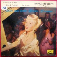 Discos de vinilo: RAPHA BROGIOTTI Y SUS ZINGAROS - LOS MAS BELLOS VALSES VIENESES - EP LA VOZ DE SU AMO 1960 BPY. Lote 26377667