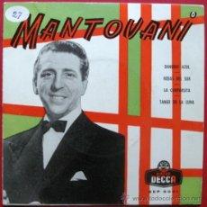 Discos de vinilo: MANTOVANI Y SU ORQUESTA - DANUBIO AZUL - EP DECCA 195? BPY. Lote 26377662