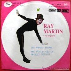 Discos de vinilo: RAY MARTIN Y SU ORQUESTA - THE MIME'S THEME - SINGLE RCA PROMO 1961 BPY. Lote 27410295