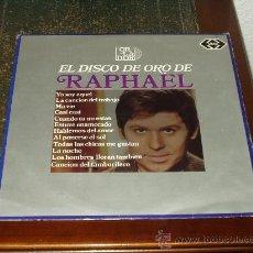 Discos de vinilo: RAPHAEL LP EL DISCO DE ORO (MUY RARO, CIRCULO LECTORES). Lote 26330820