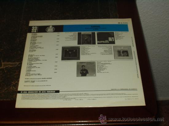 Discos de vinilo: RAPHAEL LP EL GOLFO BANDA SONORA ORIGINAL - Foto 2 - 158465170