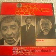 Discos de vinilo: PACO MARTINEZ SORIA - (LA CIUDAD NO ES PARA MI) - LP VERGARA - 7126-HV - ESPAÑA 1966 - LS4. Lote 23776798