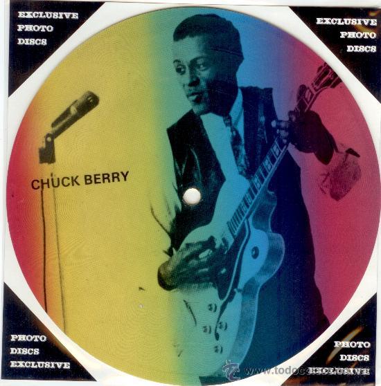 CHUCK BERRY - SINGLE PICTURE 2 TEMAS POR 1 CARA NUEVO FOTODISCO - MADE IN DINAMARCA - ULTRARARE!! (Música - Discos - Singles Vinilo - Rock & Roll)