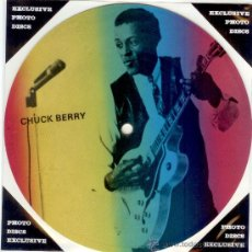 Discos de vinilo: CHUCK BERRY - SINGLE PICTURE 2 TEMAS POR 1 CARA NUEVO FOTODISCO - MADE IN DINAMARCA - ULTRARARE!!. Lote 30520560