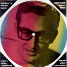Discos de vinilo: BUDDY HOLLY SINGLE PICTURE * 2 TEMAS POR 1 CARA NUEVO FOTODISCO * MADE IN DINAMARCA * ULTRARARE!!. Lote 30520591