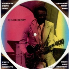 Discos de vinilo: CHUCK BERRY - SINGLE PICTURE 2 TEMAS POR 1 CARA - NUEVO - FOTODISCO MADE IN DINAMARCA - ULTRARARE!!. Lote 28400515