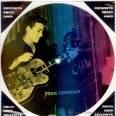 Discos de vinilo: EDDIE COCHRAN - SINGLE PICTURE 2 TEMAS POR 1 CARA NUEVO FOTODISCO MADE IN DINAMARCA - ULTRARARE!!. Lote 37918004