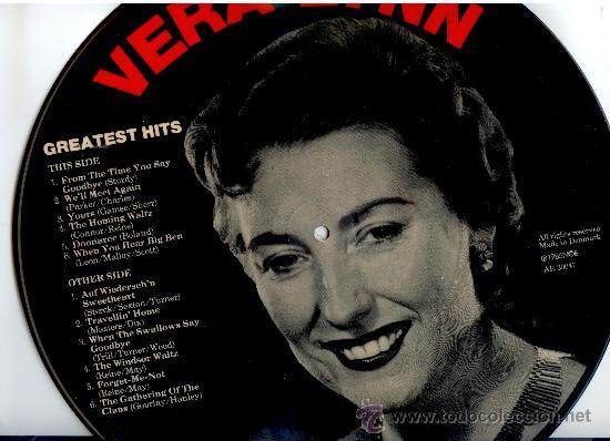 Discos de vinilo: VERA LYNN * LP PICTURE DISC * GREATEST HITS * FOTODISCO * MUY RARO * MADE IN DINAMARCA NUEVO - Foto 2 - 26597540
