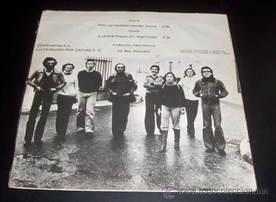 Discos de vinilo: JARCHA - POR LAS PISADAS - A LEREN - SINGLE ZAFIRO - 1978 - Foto 2 - 27094939