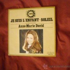 Discos de vinilo: ANNE-MARIE DAVID EUROVISION 1979 SINGLE PROMOCIONAL LA MUCHACHA SOL RCA SPA. Lote 22040338