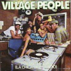 Discos de vinilo: VILLAGE PEOPLE - LA CHICA DE LA RADIO - SINGLE PROMOCIONAL 1982. Lote 25483123