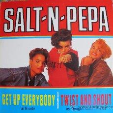 Discos de vinilo: MAXI - SALT N PEPA - GET UP EVERYBODY / TWIST AND SHOUT - NEXT PLATEAU RECORDS 1988. Lote 22048938