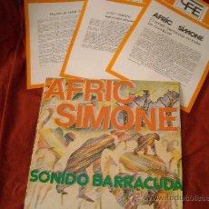Discos de vinilo: AFRIC SIMONE LP SONIDO BARRACUDA - ORIGINAL ESPAÑOL,PROMOCIONAL CON 3 ENCARTES POPLANDIA 1978. Lote 22049083