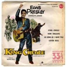 Discos de vinilo: ELVIS PRESLEY – KING CREOLE VOL. 2 (BSO) – EP SPAIN 1961 (1ª ED. 33 RPM) – RCA 33022. Lote 22052547