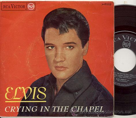 EP 45 RPM / ELVIS PRESLEY / CRYING IN THE CHAPEL/// EDITADO POR RCA 1965 (Música - Discos de Vinilo - EPs - Rock & Roll)