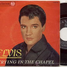 Discos de vinilo: EP 45 RPM / ELVIS PRESLEY / CRYING IN THE CHAPEL/// EDITADO POR RCA 1965. Lote 22068343