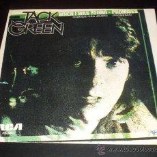 Discos de vinilo: JACK GREEN - WHEN I WAS YOUNG / PROMISES - SINGLE PROMO RCA 1981. Lote 27408243