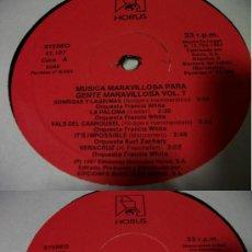 Discos de vinilo: VVAA - MUSICA MARAVILLOSA PARA GENTE MARAVILLOSA - VOLUMEN VII. Lote 24641916