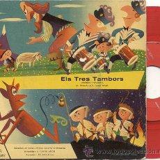 Discos de vinilo: EP 45 RPM / ELS TRES TAMBORS // EDITADO POR ODEON 1958. Lote 22084795