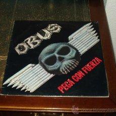 Discos de vinilo: OBUS LP PEGA CON FUERZA HEAVY METAL. Lote 26644372
