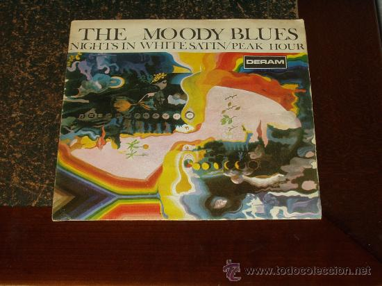 MOODY BLUES SINGLE NOCHES DE BLANCO SATEN (Música - Discos - Singles Vinilo - Pop - Rock Extranjero de los 50 y 60)