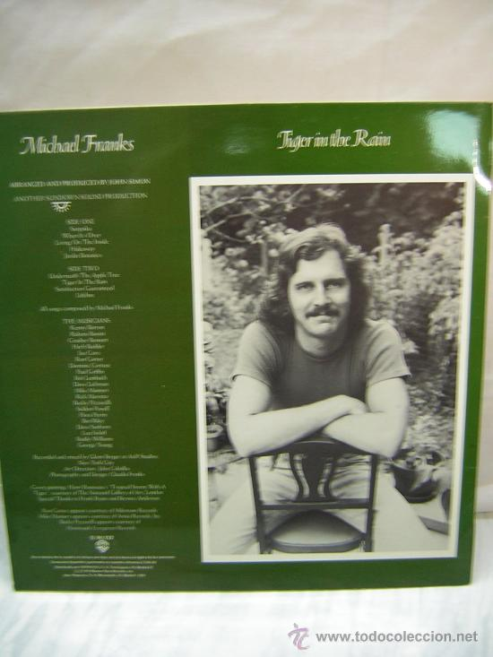 Discos de vinilo: LP MICHAEL FRANKS - TIGER IN THE RAIN - Foto 2 - 26441424