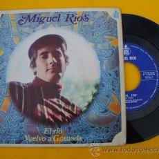 Disques de vinyle: MIGUEL RIOS : EL RÍO; VUELVO A GRANADA. 1968. HISPAVOX H373. Lote 22150768