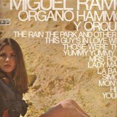Discos de vinilo - LP MIGUEL RAMOS - ORGANO HAMMOND Y ORQUESTA - TEMAS DE BEATLES, PAUL SIMON, ETC - 22133316