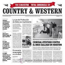 Discos de vinilo: LP SINIESTRO TOTAL CHRONICLE COUNTRY & WESTERN VINILO. Lote 236522005